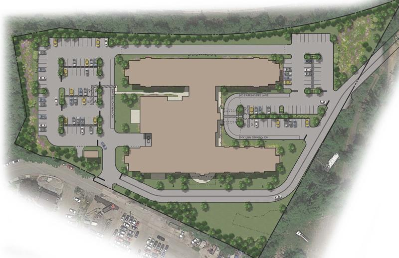Senior community site rendering