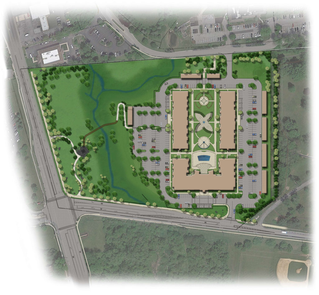 Site plan for Woodbine Apartment project