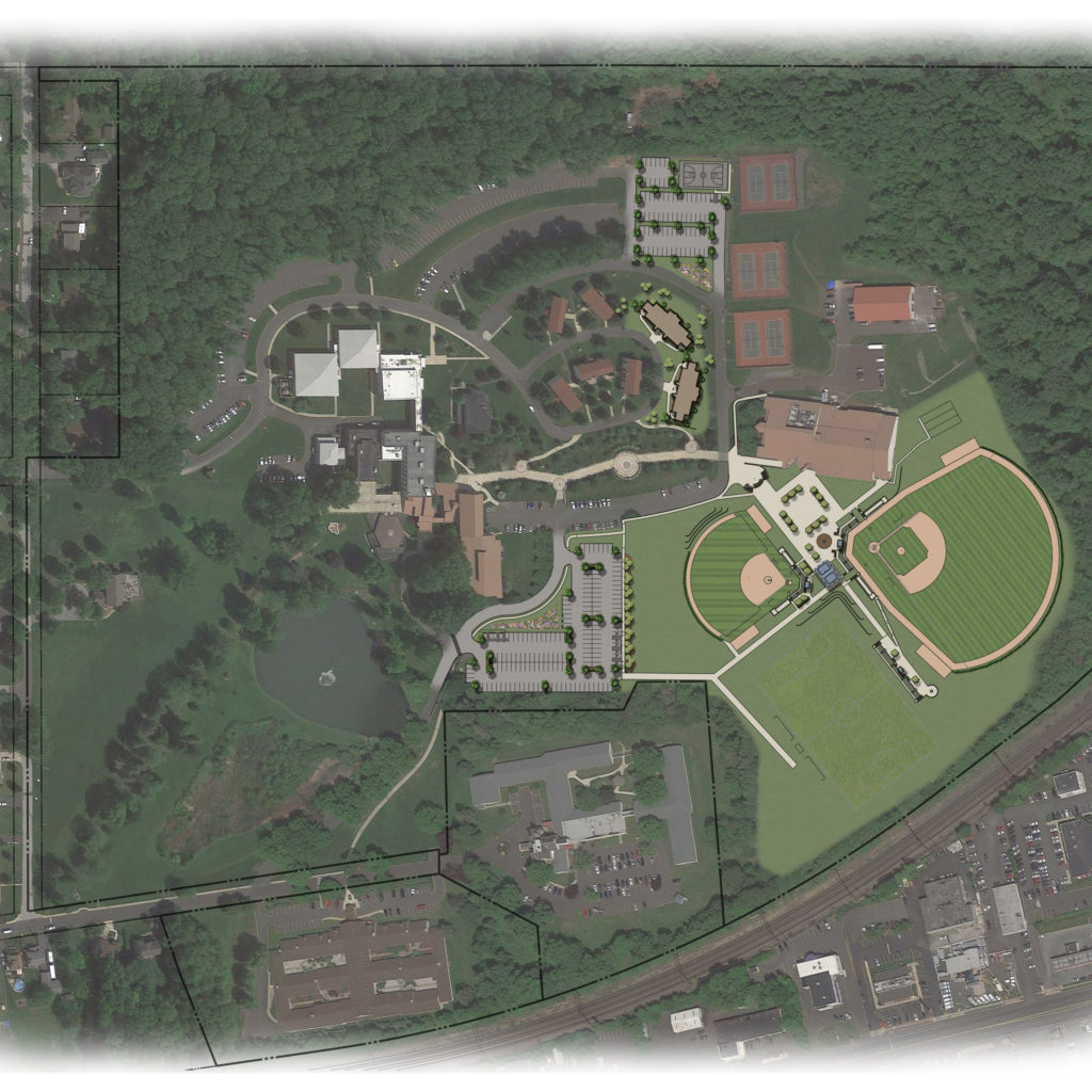 Campus Planning Trend - Cairn University - New Residences, Athletic Fields, and Parking (site rendering by Nave Newell)