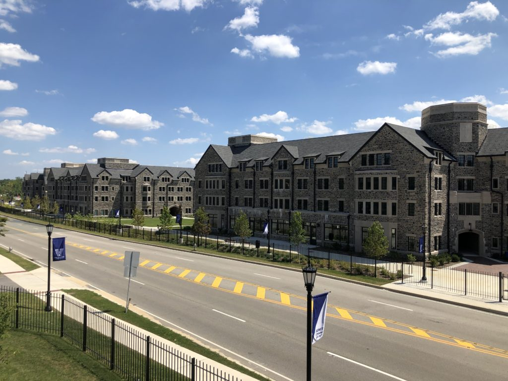 Campus Planning Trend - Campus Gateways - Villanova University - The Commons (view from new pedestrian bridge)