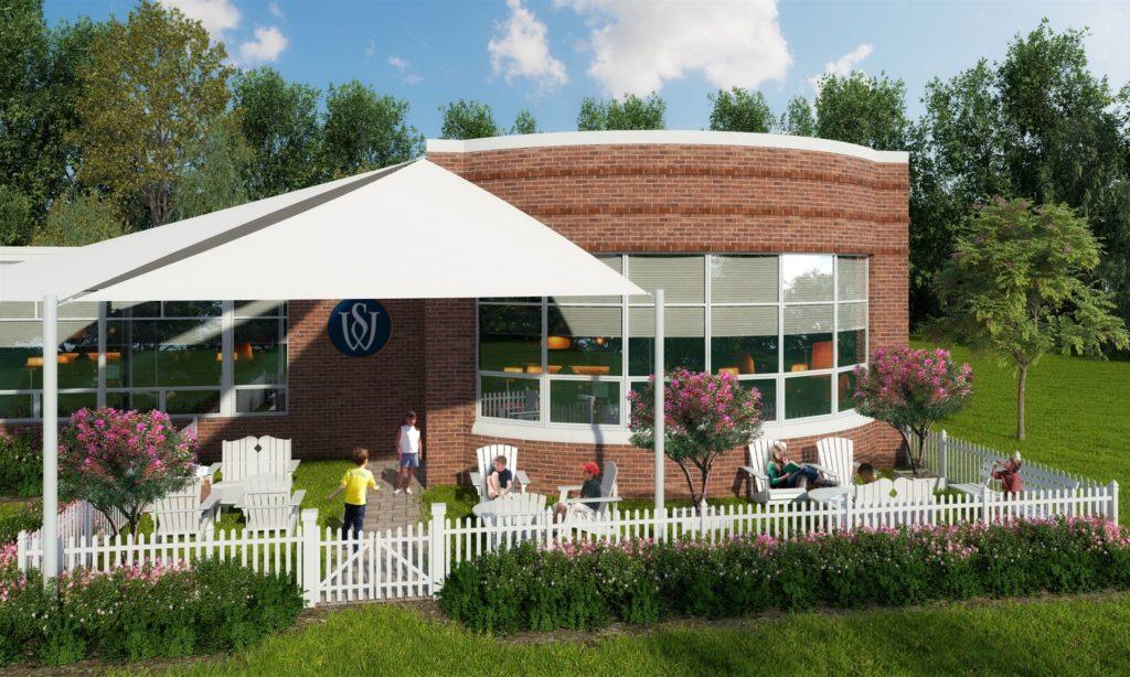 Campus Planning Trend - Woodlynde School - Reading Garden (architectural rendering by BCJ)