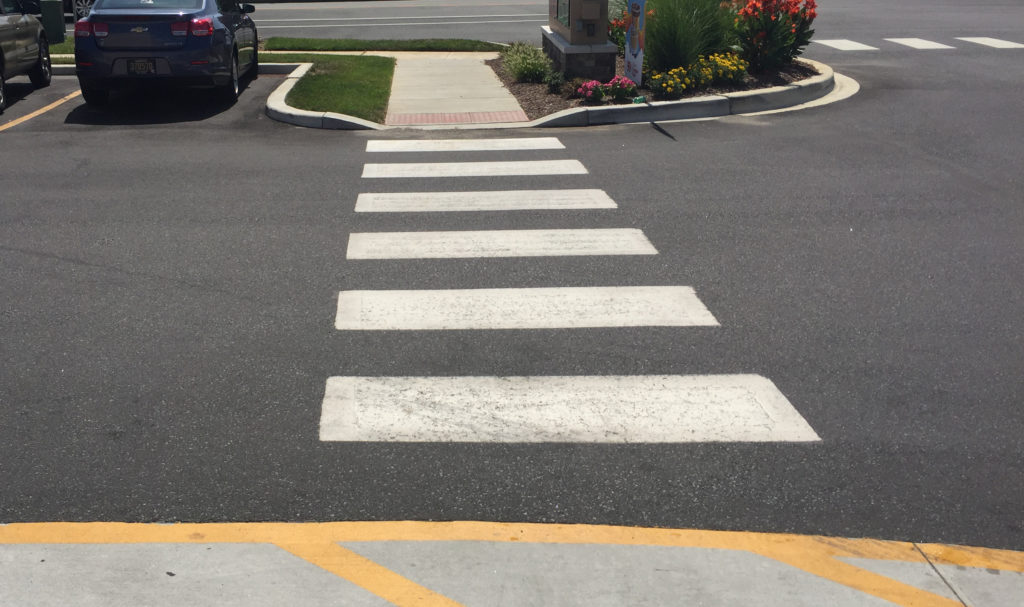Direct accessible ADA compliant path to entrance